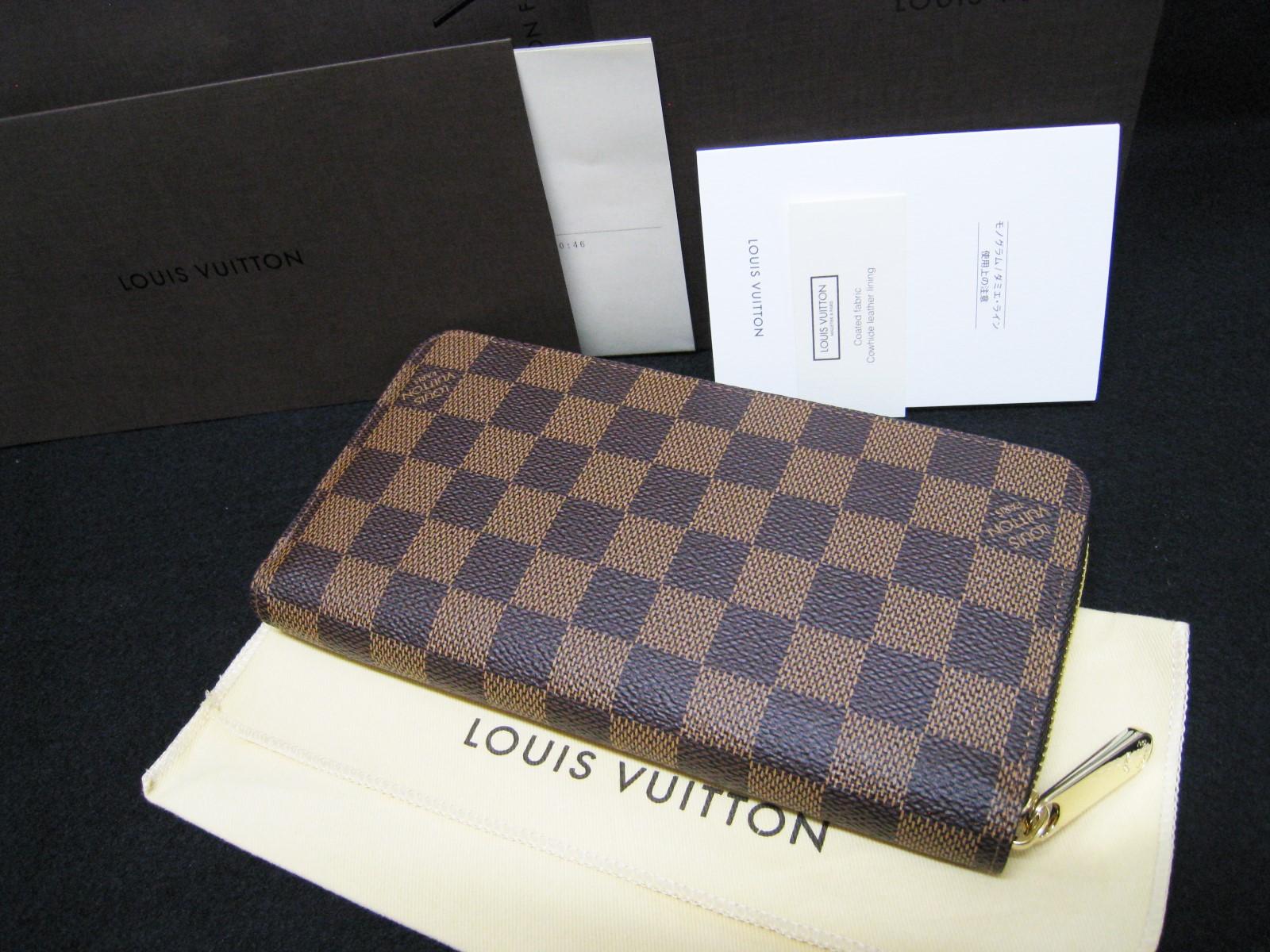 buy popular cf1cb d0269 ルイ・ヴィトン ダミエ ジッピー・ウォレット N41661 新型財布 N ...